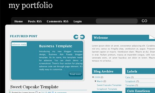 Blogger business template gallery business cards ideas 15 best free premium blogger templates xml blogtemplates free blogger template 2009 premium blogger template magazine cheaphphosting Image collections