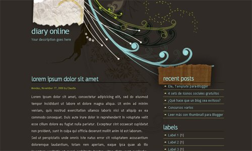 30 Beautiful Free Blogger xml Templates (Professional Look, Web2 ...