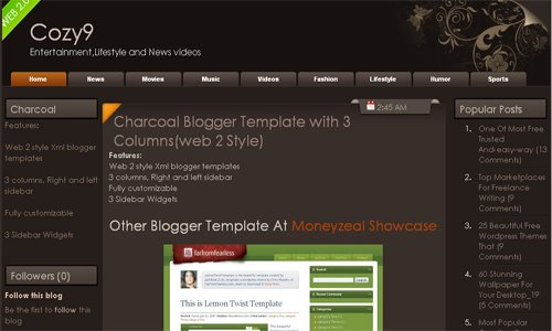 Web page and blog design: top free blogger templates for.